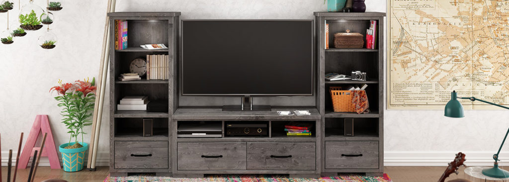 small space entertainment unit image