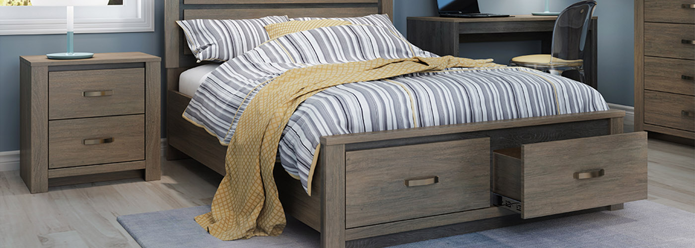 The Bridgewater Bedroom Collection small-scale double bed with 2 storage drawers image