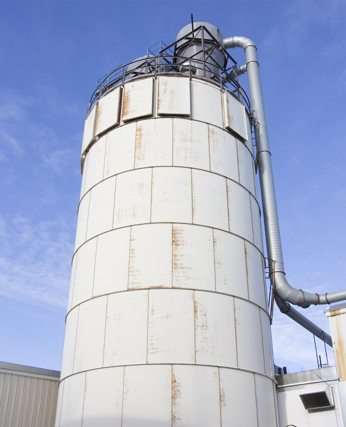 The enormous silo that stores our sawdust throughout the year image